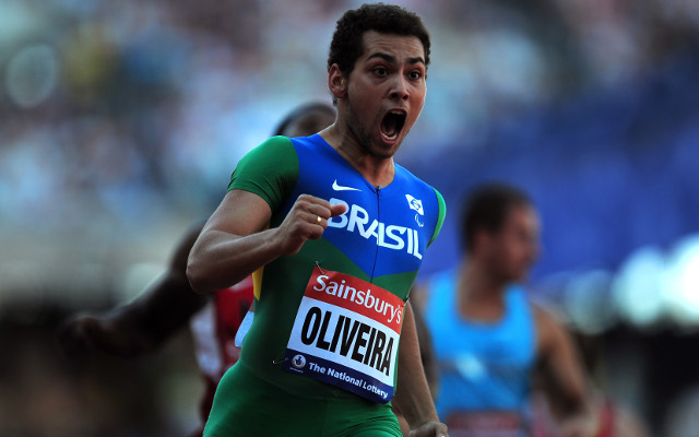 Oliveira breaks 100m Paralympic record for second time in 2013