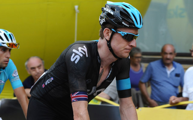 Bradley Wiggins struggles on his return to Sky racing team