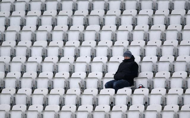 Cricket fan alone