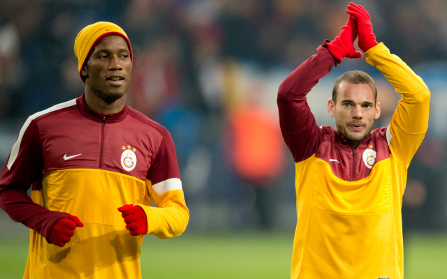 (Video) Chelsea legend Drogba cheekily puts off team mate Sneijder in interview