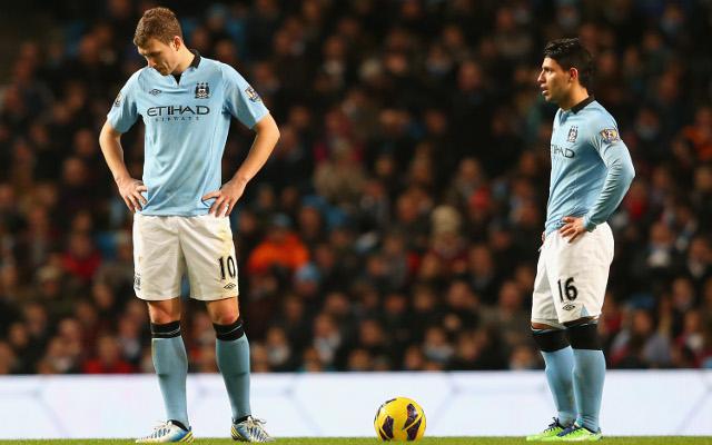 Dzeko Aguero Manchester City