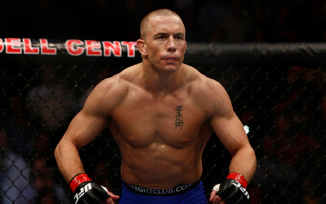 (Image) Georges St-Pierre watched UFC 171 with Arnold Schwarzenegger
