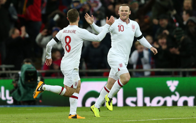 Unfit England stars Rooney and Wilshere will play 45 minutes each against Scotland