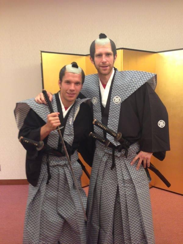 Per Mertesacker Lucas Podolski Samurai Arsenal