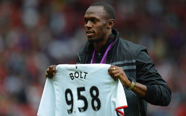 (Image) Former Arsenal and current Manchester United star congratulates Athlete of the Year Usain Bolt