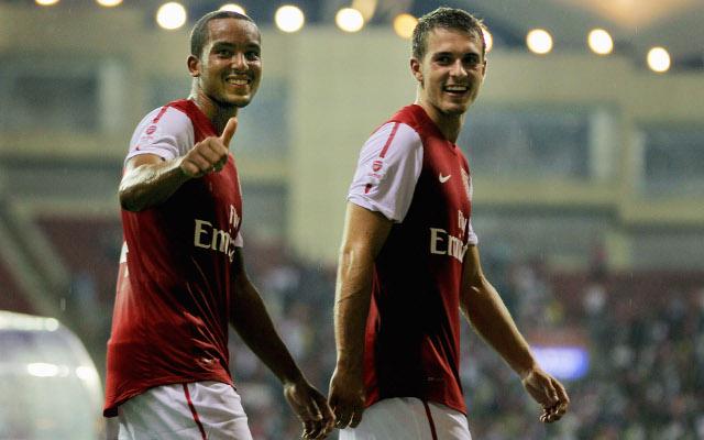 Theo Walcott Aaron Ramsey Arsenal