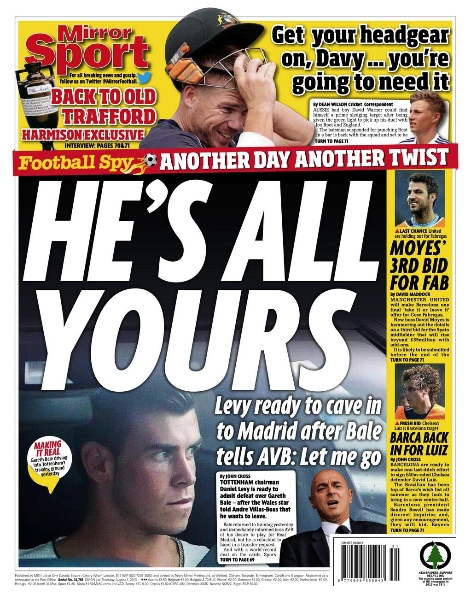 Daily Mail backpage Bale