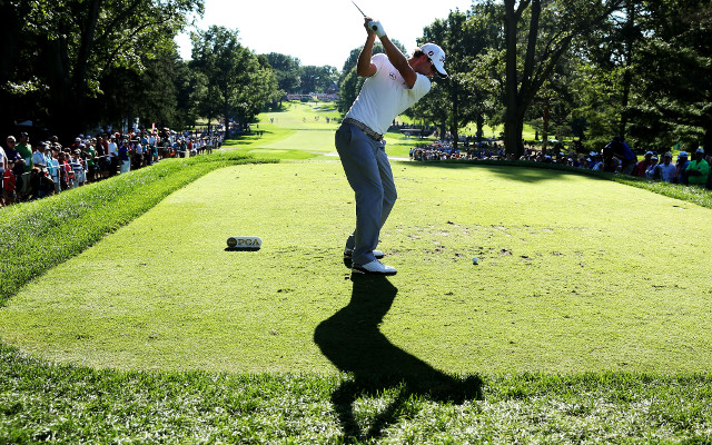 Adam Scott stumbles late in PGA Championship third round