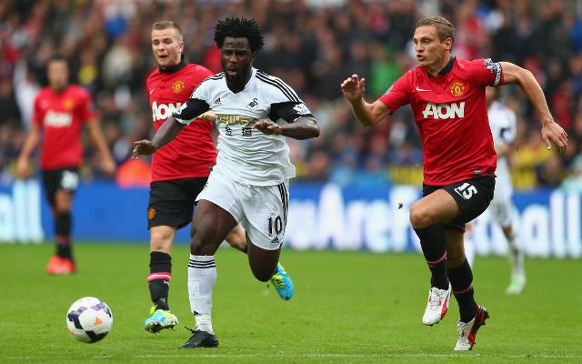 Bony Swansea Vidic Manchester United