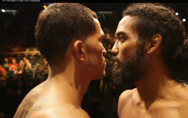(Video) Benson Henderson v Anthony Pettis: UFC 164 weigh-in staredown