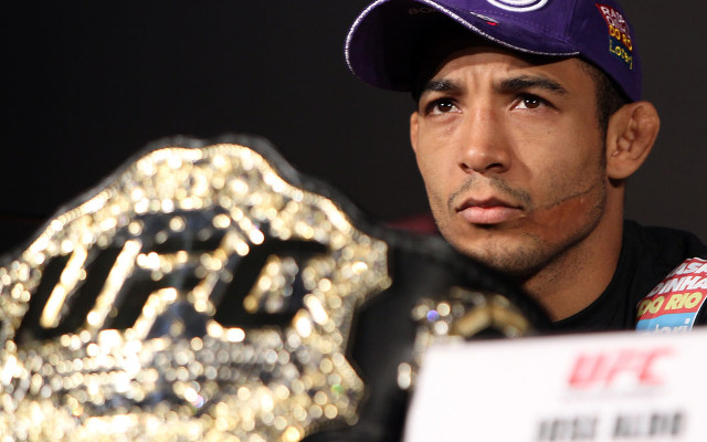 "Jose Aldo says Anthony Pettis ""talks a lot but runs when it's time to fight"""