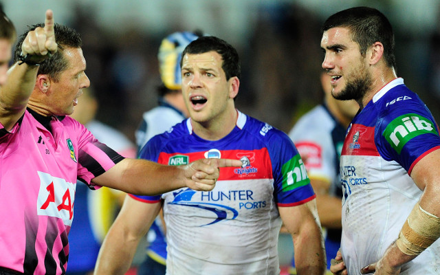 Newcastle's Kade Snowden sent off for shoulder charge in big loss to Cowboys