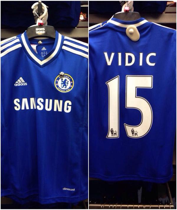 Nemanja Vidic Chelsea shirt