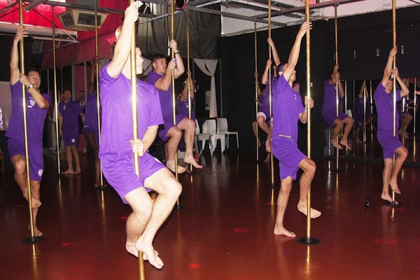 Perth Glory Pole Dancing