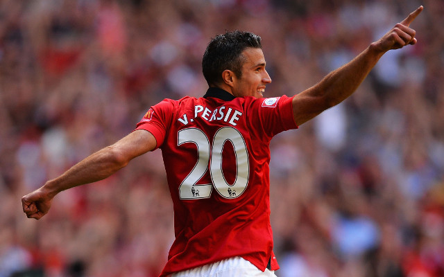 (Image) Warning explicit: Angry Arsenal fan defaces model of Manchester United star Van Persie