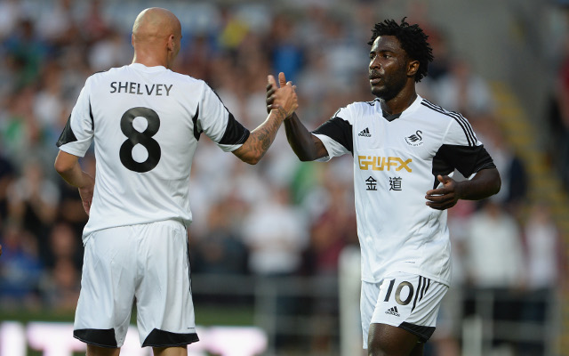 Jonjo Shelvey Wilfried Bony Swansea City