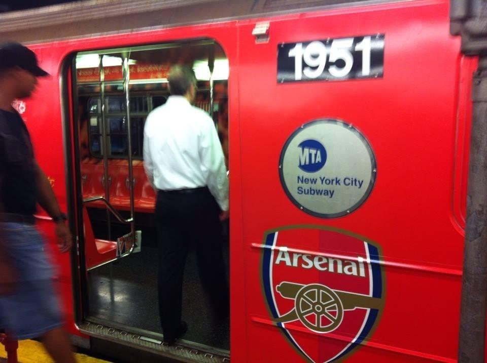 arsenal subway car NYC