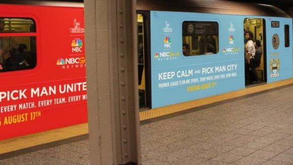 mancity v manu NYC subway