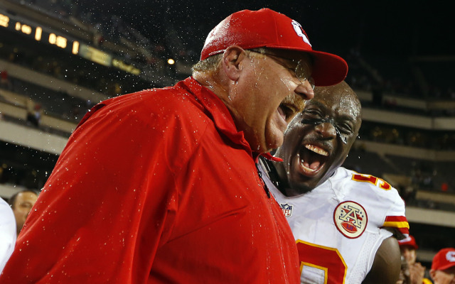 (Image) Kansas City Chiefs HC Andy Reid rocks Hawaiian shirt in picture of all 32 NFL head coaches
