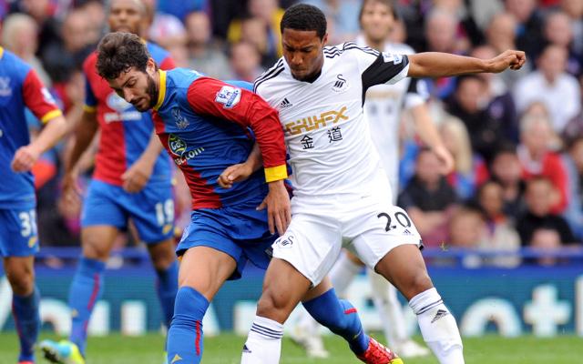 Jose Campana Jonathan De Guzman Crystal Palace Swansea City