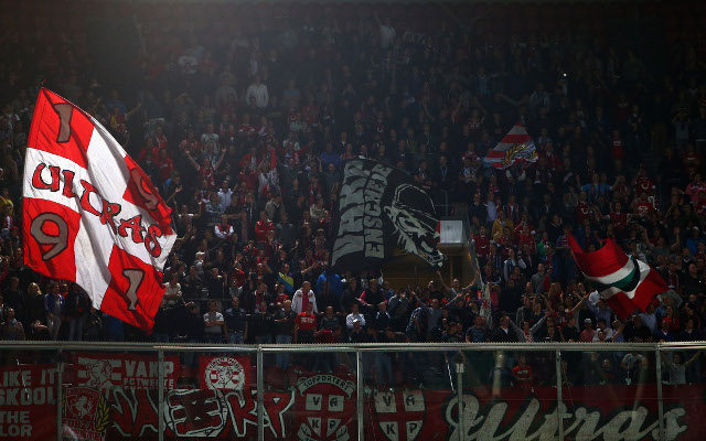 (Image) Erediviside outfit FC Twente fined after fans unveil banner reading: 'Hash, Coke and Pills'