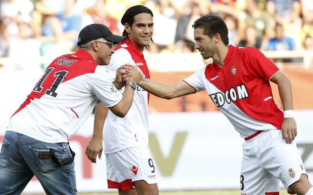 Radamel Falcao Joao Moutinho AS Monaco