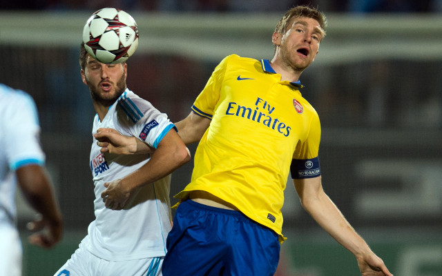 Gignac Mertesacker Marseille Arsenal