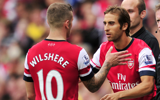 (Image) Great banter from Arsenal duo Jack Wilshere and Mathieu Flamini