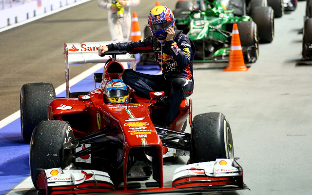 Mark Webber fined for hitching ride with Fernando Alonso