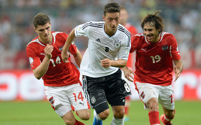 (Video) Arsenal new boy Mesut Ozil stars as Germany beat Austria in World Cup qualifying