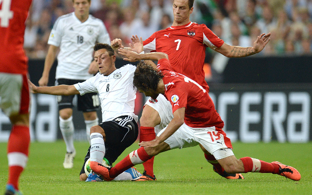 "Arsenal new boy Mesut Ozil delighted as Germany ""boss"" Austria"