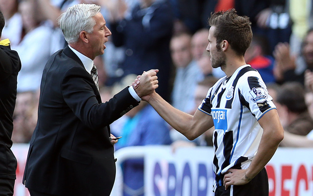 Alan Pardew Yohan Cabaye Newcastle United