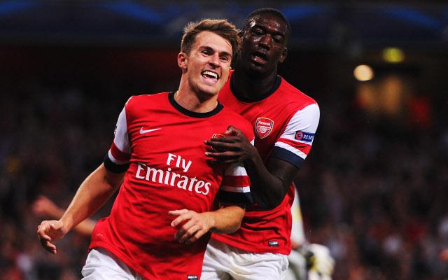 Aaron Ramsey Yaya Sanogo Arsenal