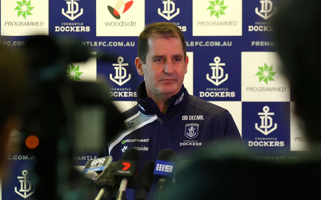 AFL clear Fremantle Dockers coach Ross Lyon over fan bust-up