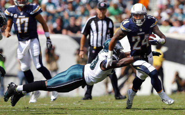 INJURY: San Diego Chargers RB Ryan Mathews out with ankle injury