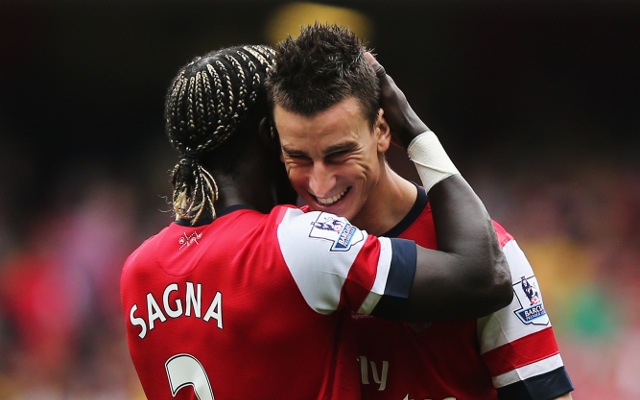 Bacary Sagna Laurent Koscielny Arsenal