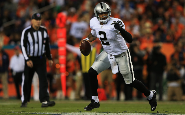 Oakland Raiders quarterback in doubt for clash with Redskins