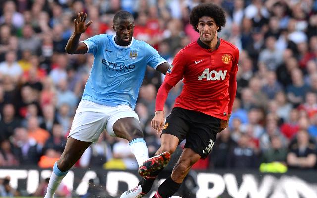 Toure Fellaini Manchester City Manchester United
