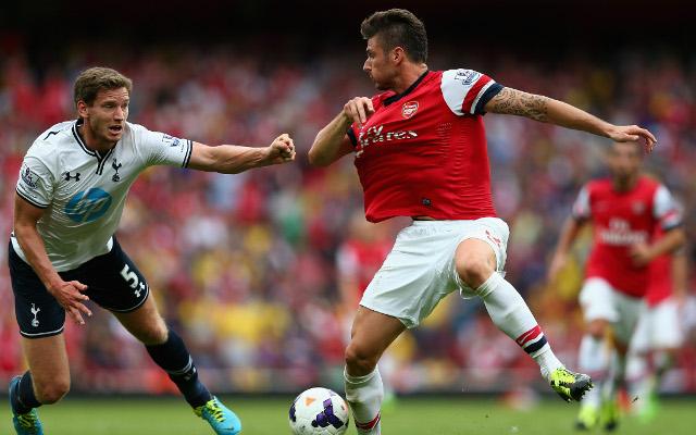 Vertonghen Giroud Tottenham Arsenal