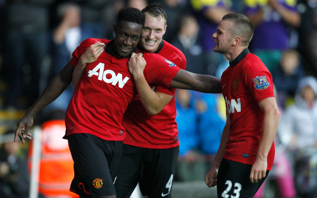 Welbeck Jones Cleverley Manchester United