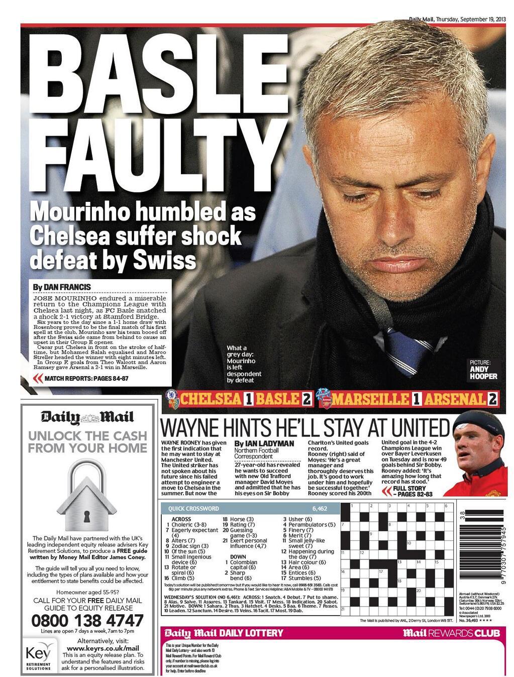 Daily Mail Mourinho