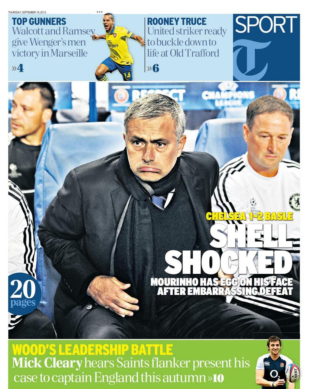 Mourinho Daily Telegraph