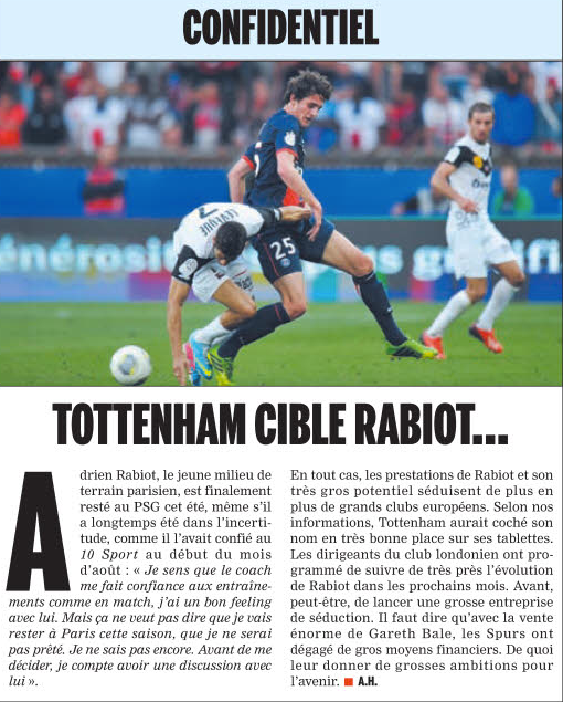 Rabiot Spurs interest