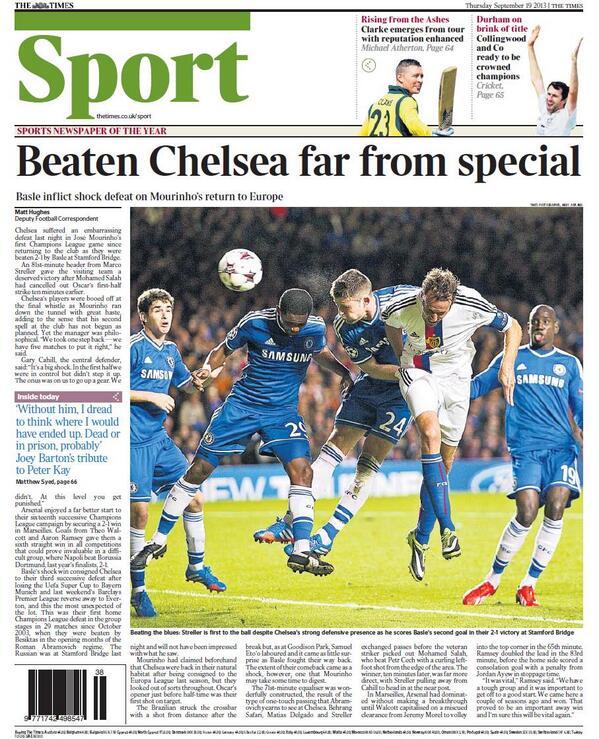 The Times Mourinho