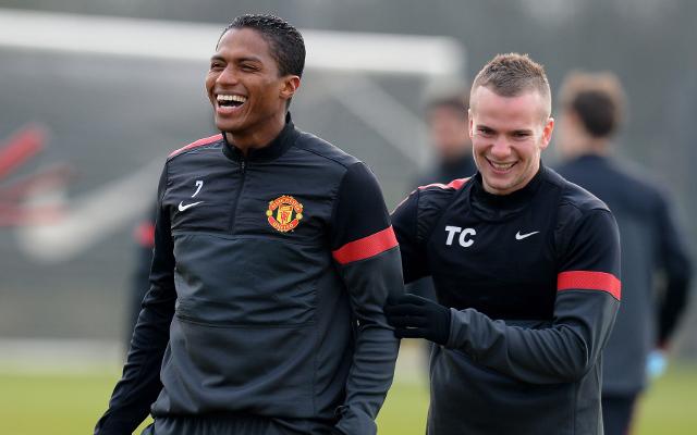 Antonio Valencia Tom Cleverley Manchester United