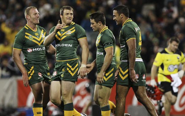 (Video) Kangaroos train before flying out for Rugby League World Cup