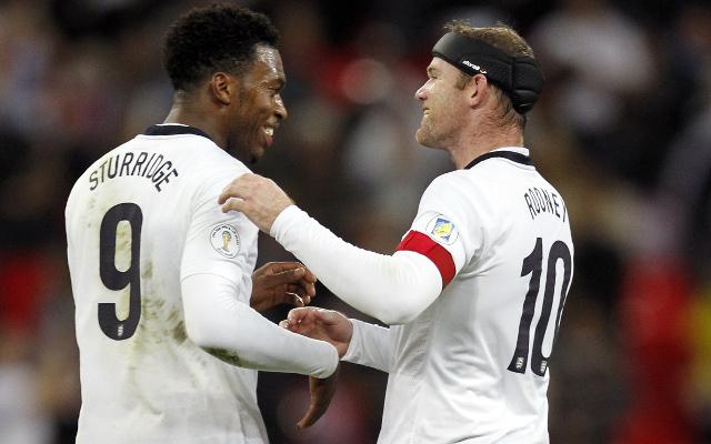 Daniel Sturridge Wayne Rooney England