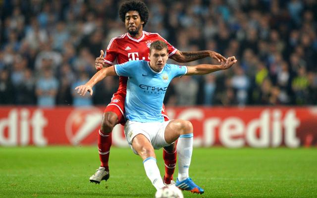 Dante Bayern Munich Edin Dzeko Manchester City