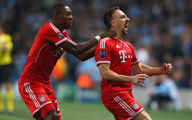 David Alaba Franck Ribery Bayern Munich