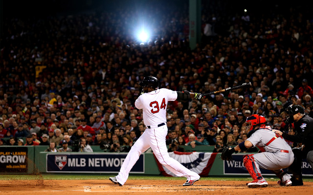Boston Red Sox belt the St Louis Cardinals in World Series game one